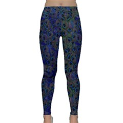 Blue Peacock Classic Yoga Leggings by greenthanet