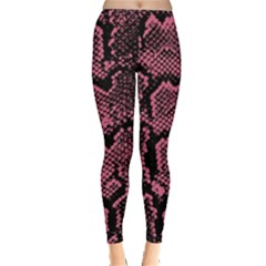 Pink Snakeskin Leggings  by greenthanet