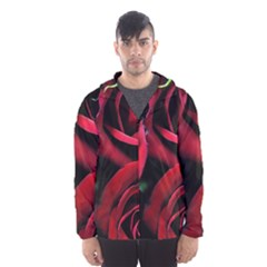 Red Roses Hooded Windbreaker (men) by bloomingvinedesign
