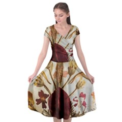 Holy Land Flowers 3 Cap Sleeve Wrap Front Dress by DeneWestUK