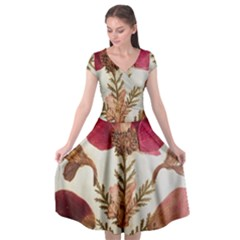 Holy Land Flowers 6 Cap Sleeve Wrap Front Dress by DeneWestUK