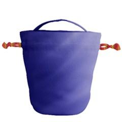 Blue Silver Fade Drawstring Bucket Bag by vwdigitalpainting