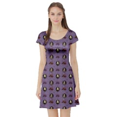 Mary Queen Of Scots Short Sleeve Skater Dress by chihuahuadresses