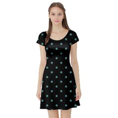 Polka Dot Short Sleeve Skater Dress by chihuahuadresses