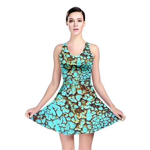 Crackle Reversible Skater Dress