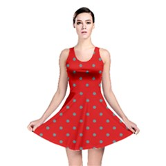 Red Polka Dot Reversible Skater Dress by chihuahuadresses