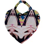 Designed By Revolution Child  Freak Incognito  Giant Heart Shaped Tote