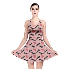 Pink  Lizards Reversible Skater Dress by chihuahuadresses