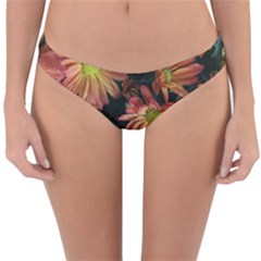 Cream And Pink Fall Flowers Reversible Hipster Bikini Bottoms by bloomingvinedesign