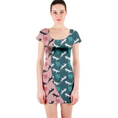 Lizards Short Sleeve Bodycon Dress by chihuahuadresses