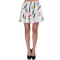 Watercolor Tablecloth Fabric Design Skater Skirt by Sapixe