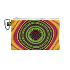 Digital Art Background Yellow Red Canvas Cosmetic Bag (medium) by Sapixe