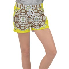 Pretty As A Flower Everywhere You Can See Women s Velour Lounge Shorts by pepitasart