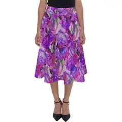 Flowers Abstract Digital Art Perfect Length Midi Skirt