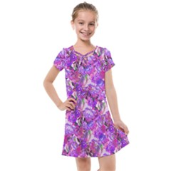 Flowers Abstract Digital Art Kids  Cross Web Dress by Jojostore