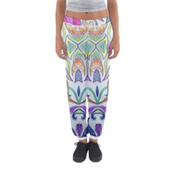 Wallpaper Created From Coloring Book Women s Jogger Sweatpants