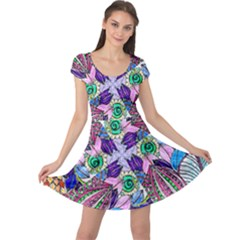 Wallpaper Created From Coloring Book Cap Sleeve Dress by Jojostore