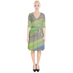 Diagonal Lines Abstract Wrap Up Cocktail Dress by Jojostore