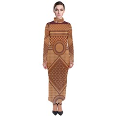 The Elaborate Floor Pattern Of The Sydney Queen Victoria Building Turtleneck Maxi Dress by Jojostore