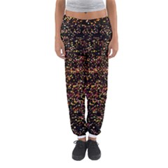Colorful And Glowing Pixelated Pattern Women s Jogger Sweatpants by Jojostore