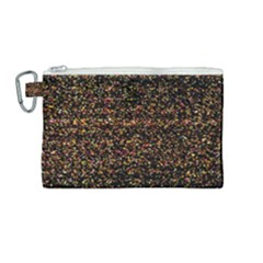 Colorful And Glowing Pixelated Pattern Canvas Cosmetic Bag (medium) by Jojostore