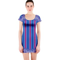 Digital Art Art Artwork Abstract Short Sleeve Bodycon Dress