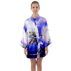 Composing Nature Background Graphic Long Sleeve Kimono Robe by Sapixe