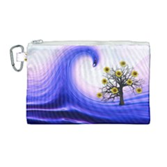 Composing Nature Background Graphic Canvas Cosmetic Bag (large) by Sapixe