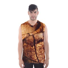 Olive Wood Wood Grain Structure Men s Basketball Tank Top