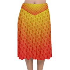 Digital Art Art Artwork Abstract Velvet Flared Midi Skirt by Sapixe
