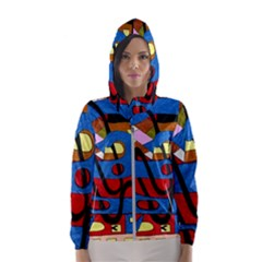 Creativeness Art Illustration Hooded Windbreaker (women) by Sapixe