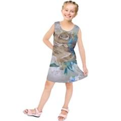 Rose Flower Petal Love Romance Kids  Tunic Dress by Sapixe