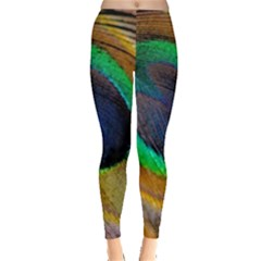 Bird Feather Background Nature Leggings  by Sapixe