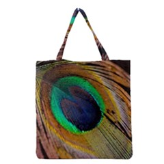 Bird Feather Background Nature Grocery Tote Bag