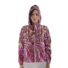 Background Swirl Art Abstract Hooded Windbreaker (women) by Sapixe