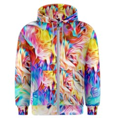 Background Drips Fluid Colorful Men s Zipper Hoodie by Sapixe