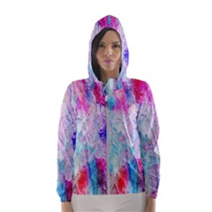 Background Art Abstract Watercolor Hooded Windbreaker (women) by Sapixe