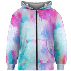 Background Drips Fluid Kids Zipper Hoodie Without Drawstring by Sapixe