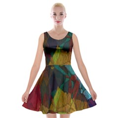 Background Color Template Abstract Velvet Skater Dress by Sapixe