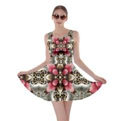 Flowers Fabric Skater Dress