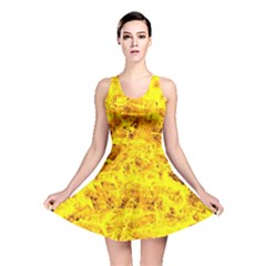 Yellow Abstract Background Reversible Skater Dress