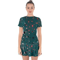 Pattern Seekers The Good The Bad And The Ugly Drop Hem Mini Chiffon Dress