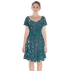 Pattern Seekers The Good The Bad And The Ugly Short Sleeve Bardot Dress