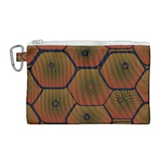 Art Psychedelic Pattern Canvas Cosmetic Bag (large)