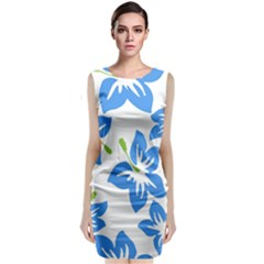 Hibiscus Wallpaper Flowers Floral Classic Sleeveless Midi Dress