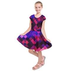 Pattern Seamless Pattern Tile Kids  Short Sleeve Dress by Sapixe