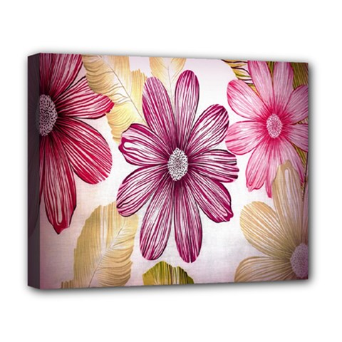 Print Fabric Pattern Texture Deluxe Canvas 20  X 16  (stretched)