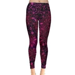 Retro Flower Pattern Design Batik Leggings