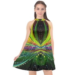 Future Abstract Desktop Wallpaper Halter Neckline Chiffon Dress