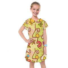 Abstract Faces Abstract Spiral Kids  Drop Waist Dress by Jojostore